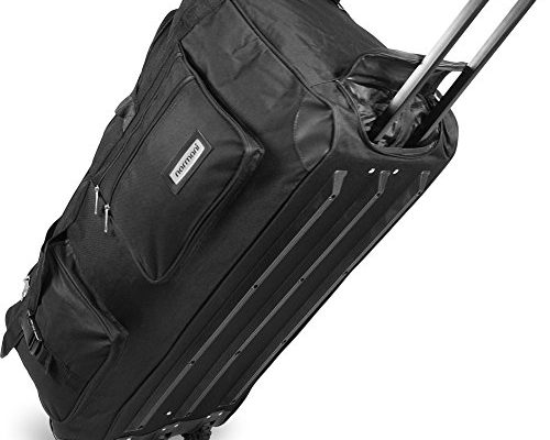 xxl reisetasche mit trolleyfunktion mit rollen und verst rkungsstreben farbe schwarz 150 liter. Black Bedroom Furniture Sets. Home Design Ideas