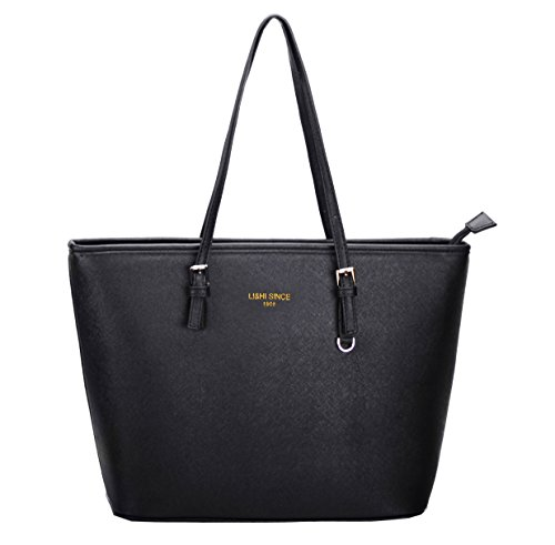 li hi handtasche damen handtasche shopper schwarz elegant schwarz handtasche gro e handtasche. Black Bedroom Furniture Sets. Home Design Ideas