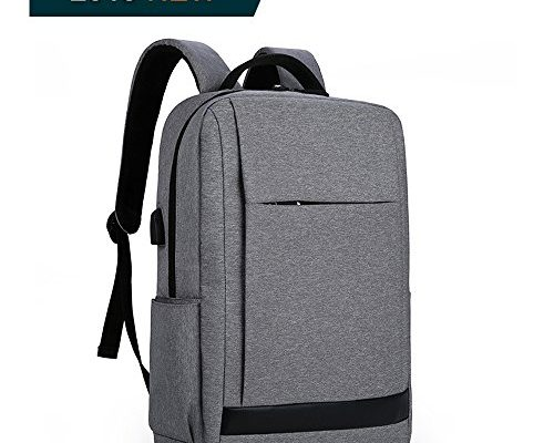 business rucksack herren damen laptop rucksack 15 6 zoll mit usb ladeschnittstelle f r schule. Black Bedroom Furniture Sets. Home Design Ideas