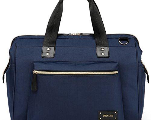 premyo wickeltasche mit wickelunterlage und kinderwagenbefestigung in blau elegante. Black Bedroom Furniture Sets. Home Design Ideas
