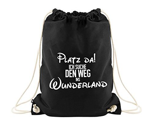 beutel mit spruch sport tasche premium qualit t sportbeutel tasche in schwarz visual. Black Bedroom Furniture Sets. Home Design Ideas