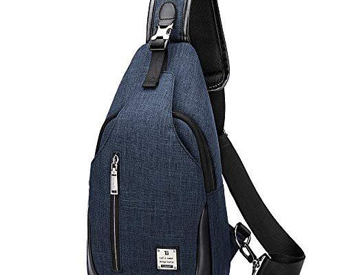 e4fe81f79b83a HASAGEI Brusttasche Sling Bag Schultertasche für Damen und Herren Crossbody  Bag Umhängetasche Rucksack Blau